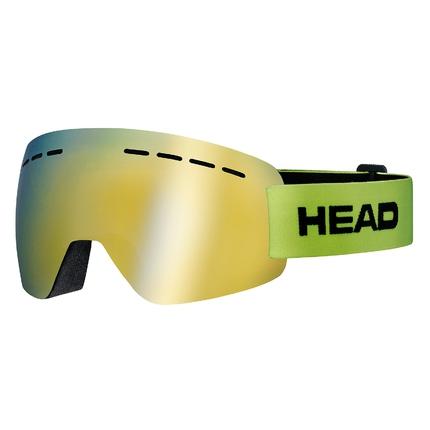 Lyžařské brýle Head Solar FMR, lime