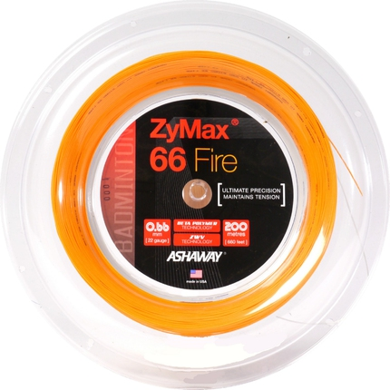Badmintonový výplet ASHAWAY Zymax FIRE 66, 200m, orange