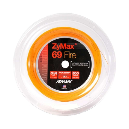 Badmintonový výplet ASHAWAY Zymax FIRE 69, 200m, orange