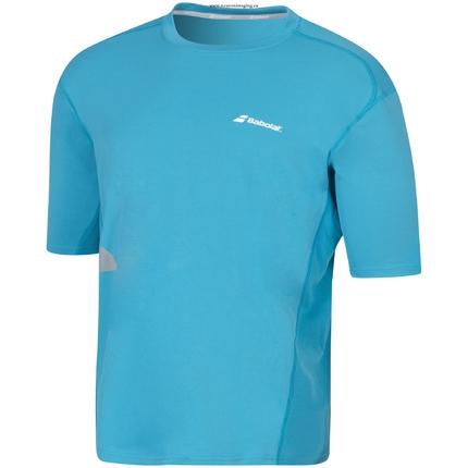 Pánské tenisové tričko Babolat Core Men Tee Flag, petrol blue