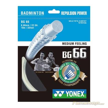 Badmintonový výplet Yonex BG 66 LTD, 10m, white