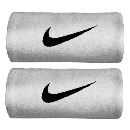 Potítka Nike Premier Double Wide Wristband, white