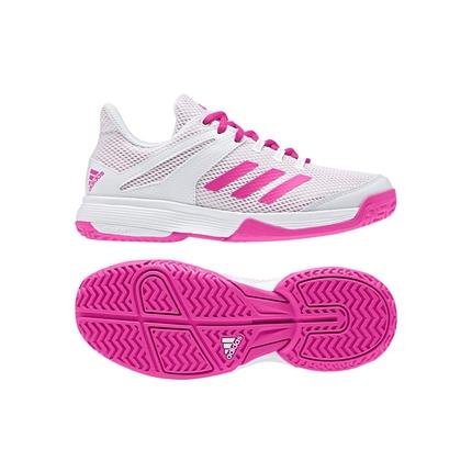 Dětská tenisová obuv Adidas Adizero Club, white/pink