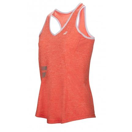Dámské tenisové tílko Babolat Core Women Crop, fluo red