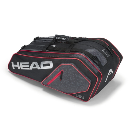 Tenisová taška Head Core 9R Supercombi, black/silver