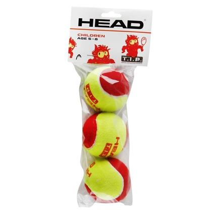 Dětské tréninkové míče Head T.I.P. red, 3 ks