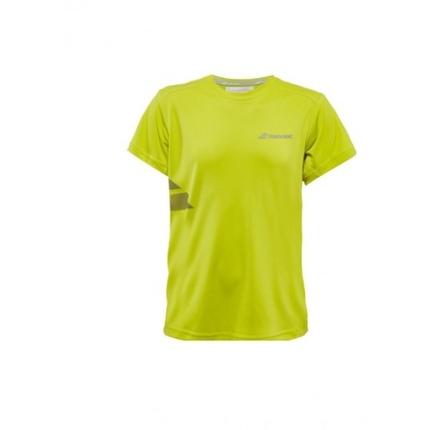 Pánské tenisové tričko Babolat Core Men Tee Flag, lime