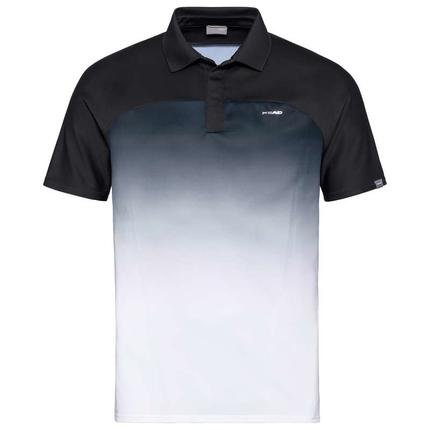 Pánské tenisové tričko Head Performance Polo, black/white