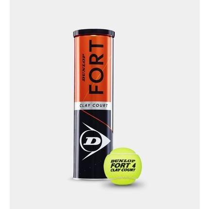 Tenisové míče Dunlop Fort Clay Court, 4 ks