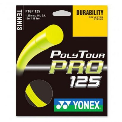 Tenisový výplet Yonex Poly Tour Pro 12m, 1.25 yellow