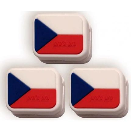 Tenisové vibrastopy Pros Pro Czech Republic, 3 ks
