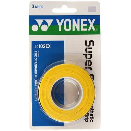 Omotávky Yonex Super Grap, yellow, 3 ks