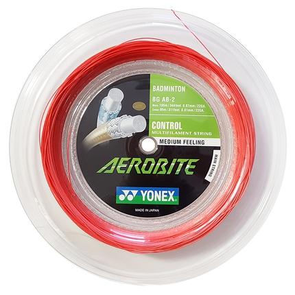 Badmintonový výplet Yonex Aerobite, 200m, white/red