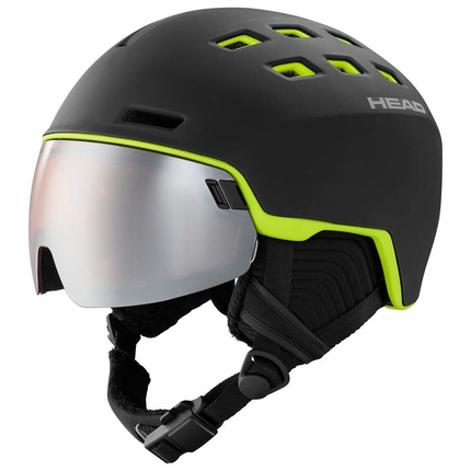 Lyžařská helma Head Radar 2019/20, black/lime
