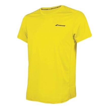 Pánské tenisové tričko Babolat Core Flag Club Tee, blazing yellow