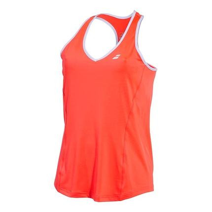 Dámské tenisové tílko Babolat Core Women Crop, fluo strike