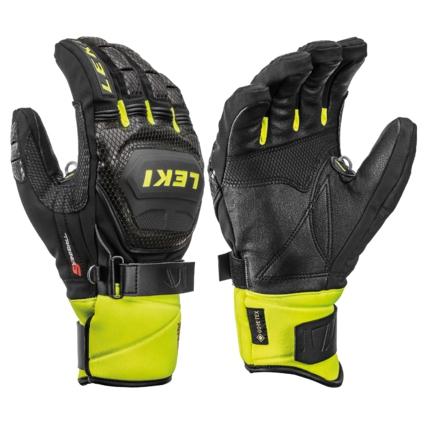 Lyžařské rukavice Leki Worldcup Race Coach Flex S GTX black/lemon, 2019/20
