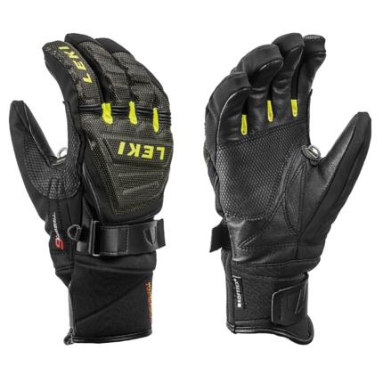 Lyžařské rukavice Leki Race Coach C-Tech S black/lemon, 2019/20