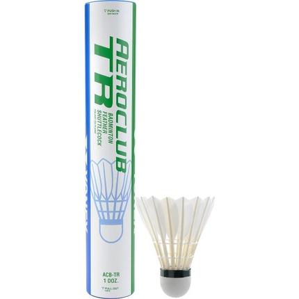 Péřové badmintonové míče Yonex AeroClub TR, 12 ks