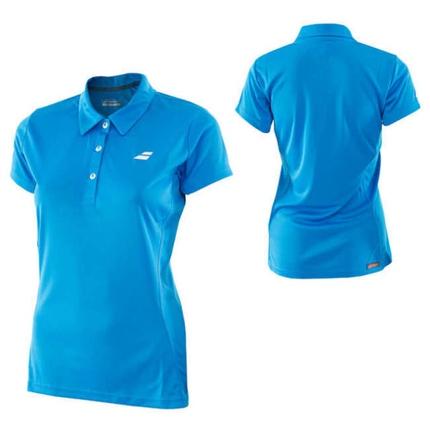 Dámské tenisové tričko Babolat Core Women Club Polo, diva blue
