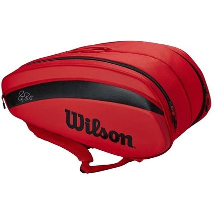 Tenisová taška Wilson Federer DNA 12 Pack 2020, infrared