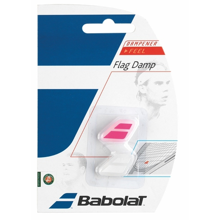 Tenisové vibrastopy Babolat Flag Damp X2, white/pink