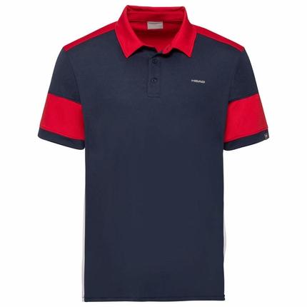 Pánské tenisové tričko Head Ace Polo, dark blue/red