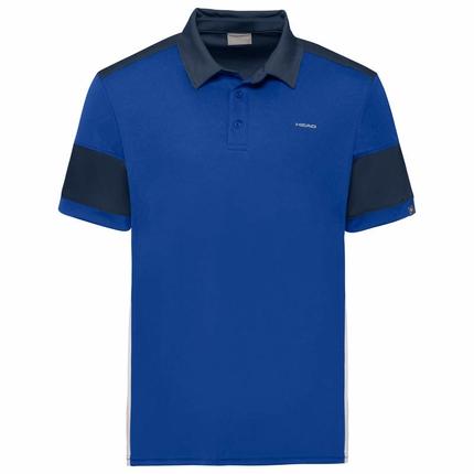 Pánské tenisové tričko Head Ace Polo, royal/dark blue