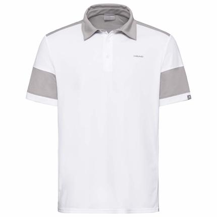 Pánské tenisové tričko Head Ace Polo, white/grey