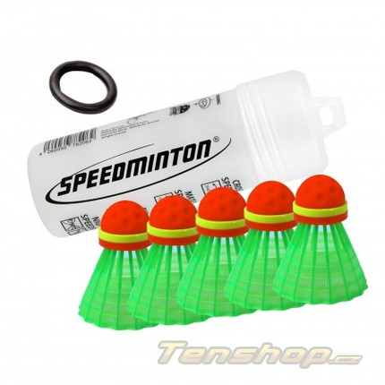 Míče na speedminton Donic Speeder tube CROSS, 5 ks