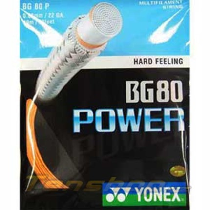 Badmintonový výplet Yonex BG 80 Power, 10m, orange