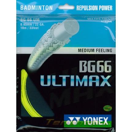 Badmintonový výplet Yonex BG 66 Ultimax, 10m, yellow