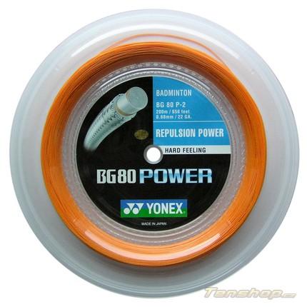 Badmintonový výplet Yonex BG 80 Power, 200m, orange