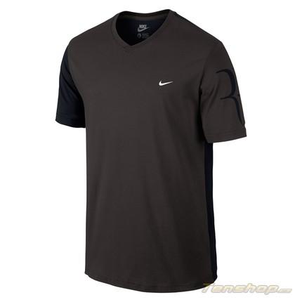 Pánské tričko Nike Roger Federer V-Neck Tee, ash