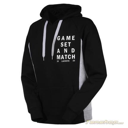 Pánská mikina Lacoste Hooded Sweatshirt, noire