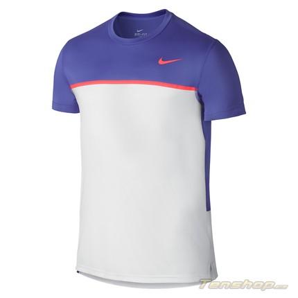 Pánské tenisové tričko Nike Challenger Crew, violet