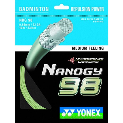 Badmintonový výplet Yonex Nanogy 98, 10m, gold