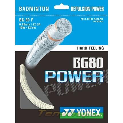 Badmintonový výplet Yonex BG 80 Power, 10m, white