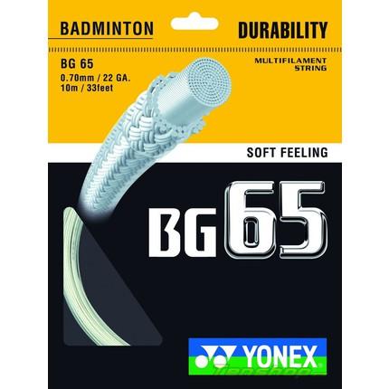 Badmintonový výplet Yonex BG 65, 10m, amber