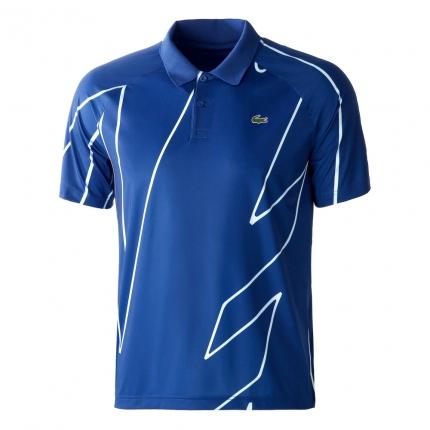 Pánské tenisové tričko Lacoste Novak Djokovic Polo, bleu roi