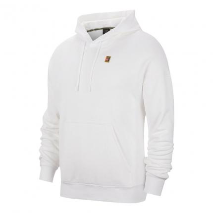 Pánská tenisová mikina Nike Court Heritage Fleece Hoodie, white