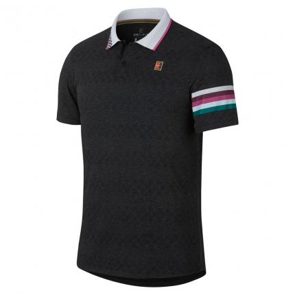 Pánské tenisové tričko Nike Court Advantage Polo, black/pink