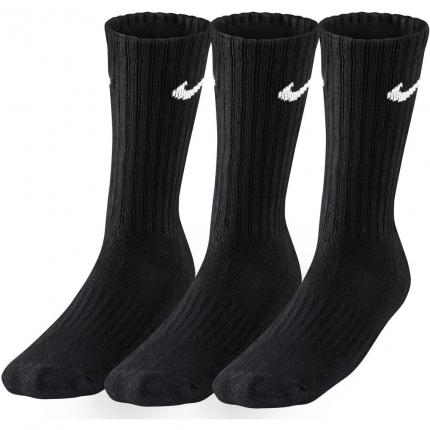 Tenisové ponožky Nike Value Cotton Crew 3er, black