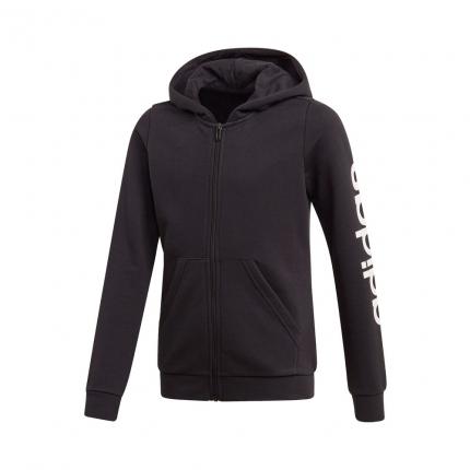 Dětská mikina Adidas Essentials Linear Full-Zip Hoodie, black