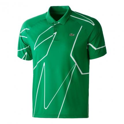 Pánské tenisové tričko Lacoste Novak Djokovic Polo, yucca
