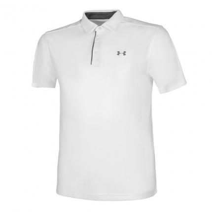 Pánské tenisové tričko Under Armour Tech Polo, white