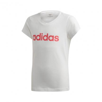 Dětské tričko Adidas Essentials Linear Tee, white/real pink