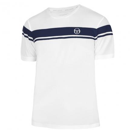 Pánské tenisové tričko Sergio Tacchini Young Line Pro T-Shirt, white/navy