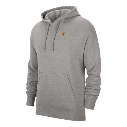 Pánská tenisová mikina Nike Court Heritage Fleece Hoodie, dark grey heather