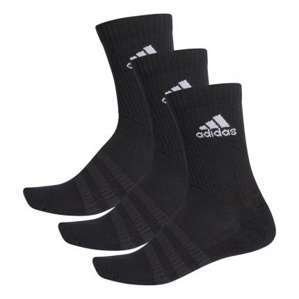 Tenisové ponožky Adidas Cushioning 3er Pack Crew Socks Unisex, black